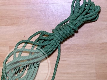 Selling with online payment: JADE MIST hand dyed cotton ropes. | 100ft