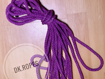 Selling with online payment: RADIANT ORCHID hand dyed cotton rope | 50ft