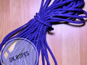 Selling with online payment: PURPLE IMPRESSIONS hand dyed cotton rope | 25ft