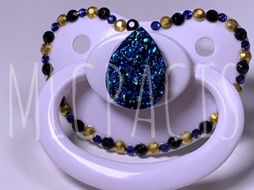 Selling with online payment: Blue Geode Adult Pacifier