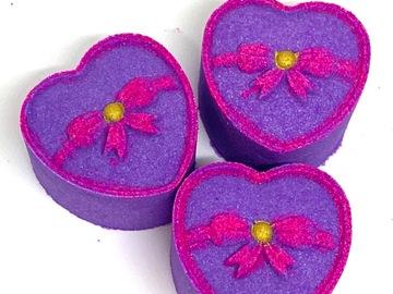 : Heart Bath Bombs ( set of 3)