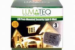 Make An Offer: Lumateq LED Post-Mounted Security Light, 6-Watt, White