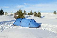 Vuokrataan (yö): Teltta Fjällräven Akka Endurance 2