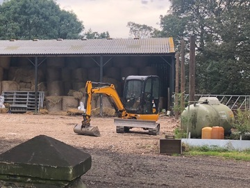 Weekly Equipment Rental: 3 ton JCB mini digger
