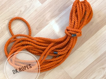 Selling with online payment: MARIGOLD hand dyed cotton rope | 25ft