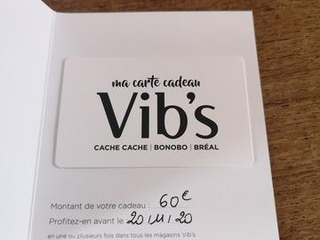 Vente: Carte cadeau Vibs : Cache-Cache / Bonobo / Bréal (60€)