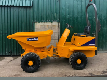 Daily Equipment Rental: 1.5t high lift swivel dumper