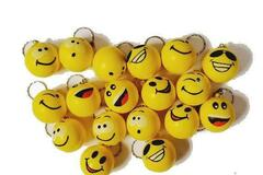 Buy Now: 288 KeyChains-Novelty Assorted Emoji Smiley Face Foam Key Chains