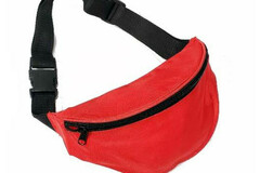 Buy Now: Vinyl Red Adjustable Fanny Pack – Zipper Compartment