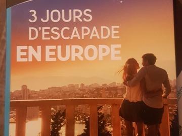 "Vente: Wonderbox ""3 jours d'escapade en Europe"" (99,90€)"