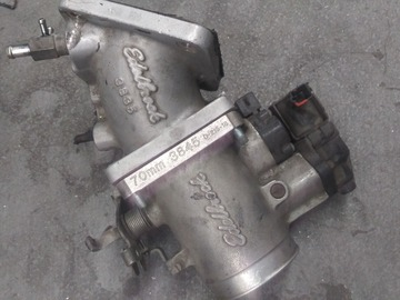 Selling with online payment: Edelbrock 70MM Throttle Body and Elbow