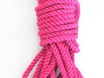 Selling with online payment: 8 metres pink hemp rope 7mm thick