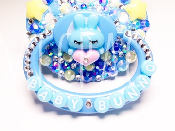 Selling with online payment: Blue Baby Bunno Adult Pacifier