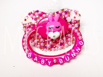 Selling with online payment: Hot Pink Baby Bunno Adult Pacifier