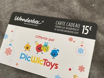 Vente: Bon de réduction Wonderbox (15€)