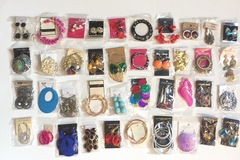 Buy Now: 100 Pairs of dangle drops hoops earrings wholesale lot