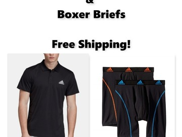 Buy Now: Men's Adidas Polo Shirts & Boxer Briefs, Free Shipping!