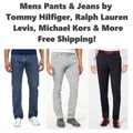 Buy Now: Men's Pants by Polo, Tommy Hilfiger, Levis & More, $2,920 MSRP