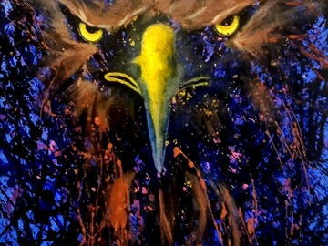 """Selling: Screaming Eagle's Lair. Print - 11"""" x 14"""" matted."""