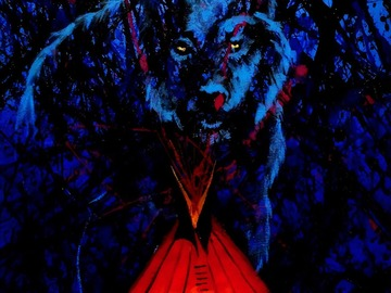 """Selling: Tales of the Wolf. Print - 11"""" x 14"""" matted."""