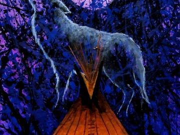 """Selling: The Messenger. Print - 11"""" x 14"""" matted."""