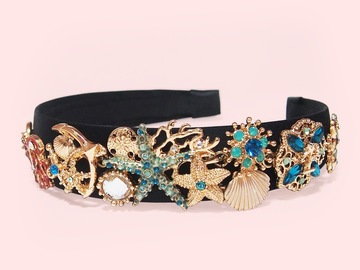 : Barris Ocean of Dreams Crystals Embellished Handmade Headband