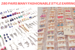 Buy Now: 280 Pairs Earrings Mixed Fashionable Styles- Retail Ready