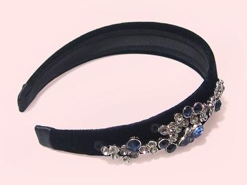 : Bartel Raindance Crystals Embellished Velvet Handmade Headband