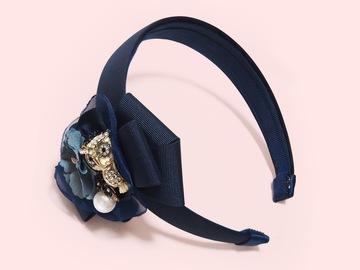 : Bartosz Owl Gardens Bow-embellished Handmade Headband
