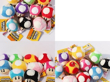 Make An Offer: Super Mario Mushroom Keychains 100pc