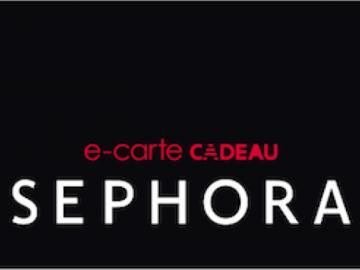 Vente: e-Carte cadeau Sephora (450€)