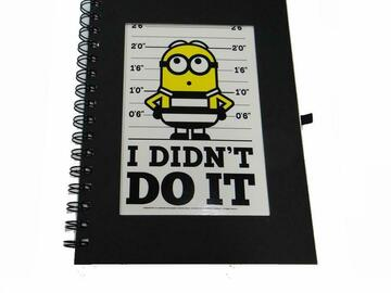 "Make An Offer: 50 Journals - Despicable Me Minion ""I Didn't Do It"" Spiral Jounal"