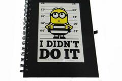 """Make An Offer: 50 Journals - Despicable Me Minion """"I Didn't Do It"""" Spiral Jounal"""