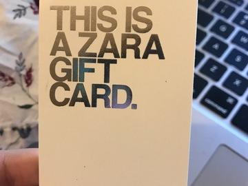 Vente: Carte cadeau Zara (100€)