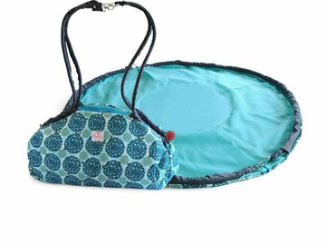 Buy Now: 2 Red Hens Toy Nanny and Play Mat Tote, Turquoise Peacock Mum Des