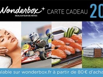 Vente: 3 codes de réduction Wonderbox (3 x 20€)