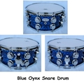 Selling with online payment: 14x6.5 16ply Blue Oynx Snare Drum