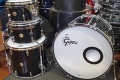 SOLD!: SOLD! Gretsch USA Custom 4 pc set black sparkle - price lowered!