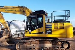 Hourly Equipment Rental: 210 Komatsu available on self drive or operated hire