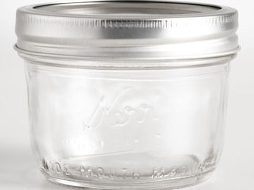 Buy Now: 2126 pcs - Pallet Deal – Kerr Wide Mouth 8 Oz. Glass Mason Jars