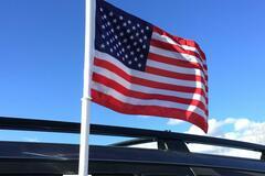 Buy Now: Heavy Duty Patriotic USA Car Flag – Double Sided