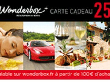 Vente: Code de réduction Wonderbox (25€)
