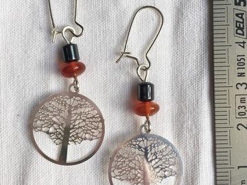 Vente au détail: Boucles d'oreilles arbre de vie