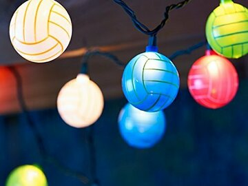 Buy Now: Light Idea – 10ct Volley Ball String Light (Indoor/Outdoor Use)