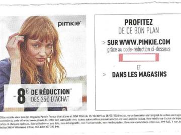 Vente: Codes de réduction Pimkie (8€) + Cyrillus (15€)