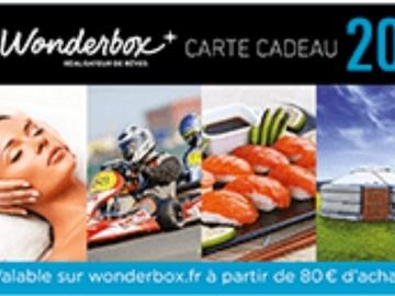 Vente: Code de réduction Wonderbox (20€)