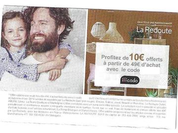 Vente: Codes de réduction La Redoute  (10€) + 15% chez Aubert