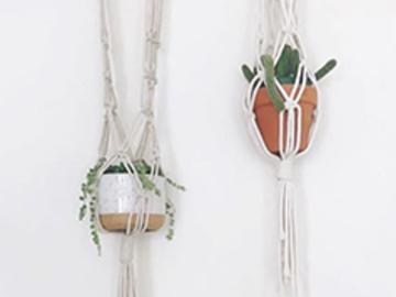 8.5 Credits: Macrame Hanging Plant Holders