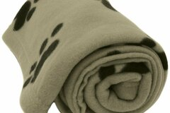 Buy Now: Evelots – Large 5 Foot Paw Print Pet Fleece Blanket – Beige