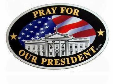 """Buy Now: 200 """"Pray For Our President"""" Oval Magnet Only 42 Cents Each"""